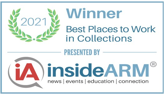 Hollis Cobb Wins 2021 insideARM Best Places to Work in Collections